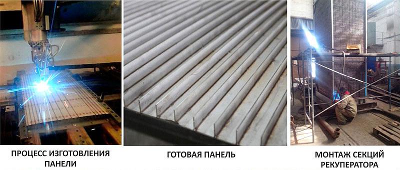 Процесс изготовления теплообменника рекуператора